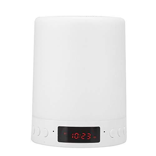 Multifunktionaler Bluetooth-Lautsprecher, bunter Schlafzimmertisch, Nachtlicht, intelligenter Wecker, FM-Radiosprecher, Bluetooth / Datenleitungs-Doppelmodus, bunter tragbarer drahtloser Lautsprecher