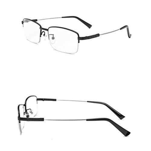 JTeam Progressive multifokale Computer-Lesebrille Objektiv Reversible Augen-Glas-blaues Licht Blocking Lesebrille for Männer und Frauen (Color : Black, Size : 4.50x)