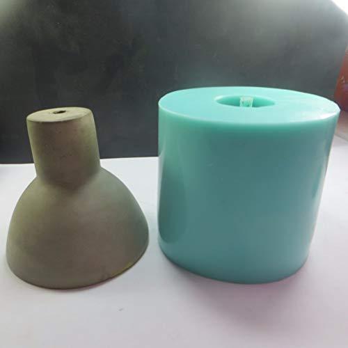 GJEFEGS Lámpara de Cemento de Silicona Molde de hormigón Pantalla de lámpara Molde de Bricolaje Moldes de Silicona Bar Dormitorio para decoración del hogar