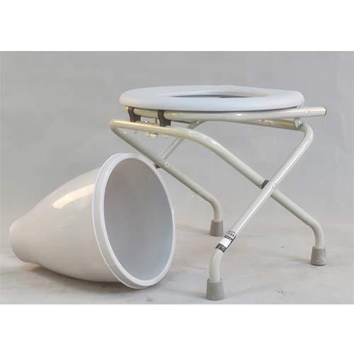 HYRL Falt-Kommode Stuhl, komfortable Nachttoilette, barrierefreie Toiletten-Sitze-geeignet für Camping, Senioren und Frühere Frauen