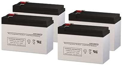 PCM Powercom King Pro KIN-2200APRM UPS Replacement Batteries - Set of 4