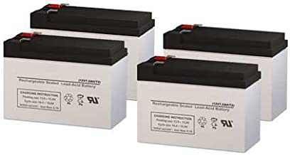 PCM Powercom King Pro KIN-2200AP UPS Replacement Batteries - Set of 4