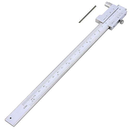 Calibrador, calibre cruzado paralelo de 0-200 mm Calibrador de micrómetro Vernier Calibrador de calibrador Indicador de marcado de acero inoxidable Herramienta de medición métrica y en pulgadas
