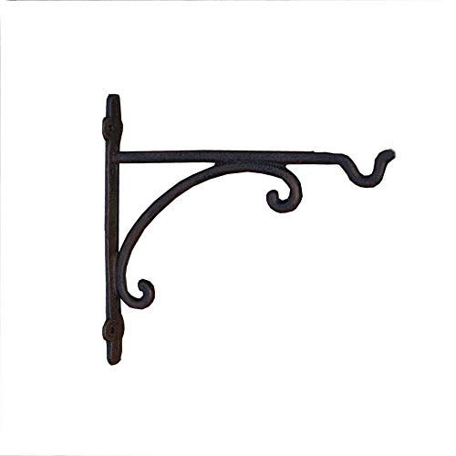 Belleashy Hanging Brackets Wandbehang Pflanze Bracket Retro Outdoor Indoor-Gartenhaken Eisen Planter Aufhänger for Patio Lawn Yard (Color : As Shown, Size : 23x3.5x22cm)