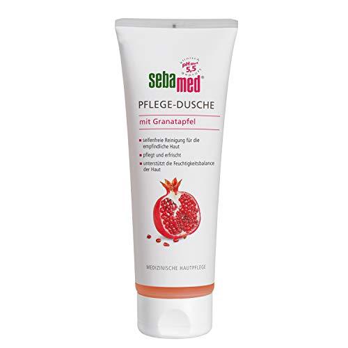 Sebamed Pflege-Dusche mit Granatapfel Vorteilspack 3 x 250 ml, optimal für den Hautschutzmantel der Haut, unterstützt seine natürliche Barrierefunktion gegen Austrocknung und Reizungen