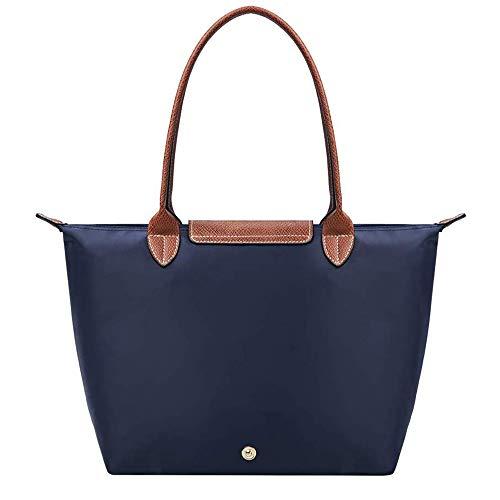 YCX Damen Shultertasche Tote Faltbare Handtaschen Umhängetasche Shopper Tasche Einkaufstüten Elegant Hekeltasche Frauen,Büro Einkauf Strand,Blau