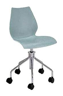 Kartell 28788M Chaise à roulettes Maui (Bleu clair)
