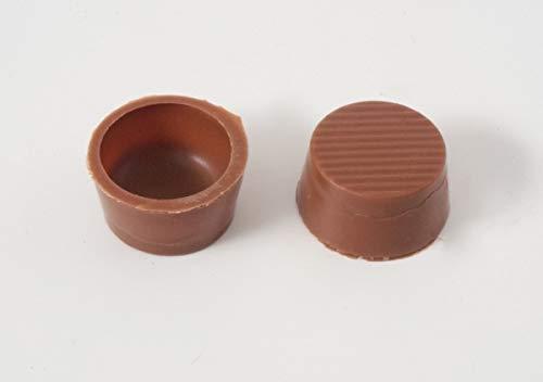 63 Stk. Pralinenschalen - Schokoladen Halbschalen Rund Vollmilch mit Rezeptvorschlag