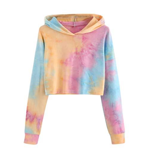 Btruely Kapuzenpullover Damen Herbst Pullover Sweatjacke Printed Sweatshirt Casual Hoodies Langarmshirt Patchwork Oberteil