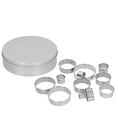 Molde de corte circular, forma diversificada, 12 piezas, troquel de perforación multifunción hueco para arcilla para masa