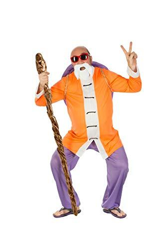 Generique - Muten Roshi Dragon Ball-Kostüm für Herren orange-Weiss-blau - XL