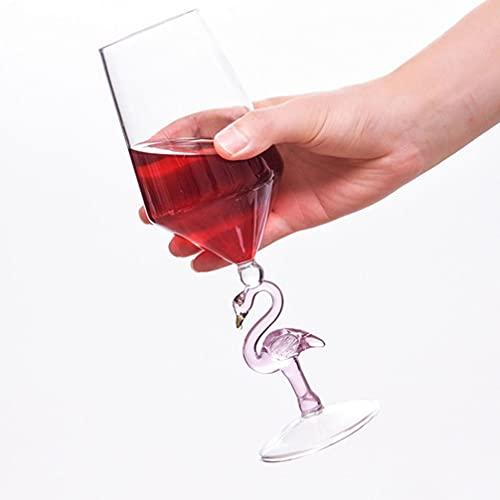 FAVOMOTO Flamingo en Forma de Copa de Vino Copa de Vino Rosa