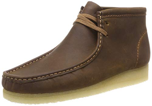 Clarks Originals Herren Wallabee Chukka Boots, Braun (Beeswax Leather), 44.5 EU