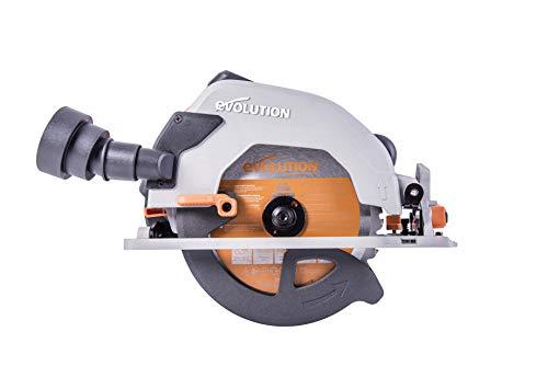 Evolution Power Tools R185CCS 7-1/4' TCT Multi-Material Cutting Circular Saw, 7-1/4', Orange