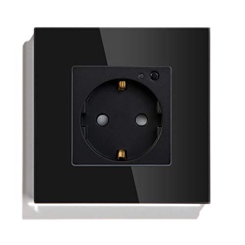 BSEED Eupope Estándar Tuya Smart Wifi Socket Soporte Apple Homekit Alexa Google Inicio Control de voz Wifi Modular Enchufes Soltero Socket Negro
