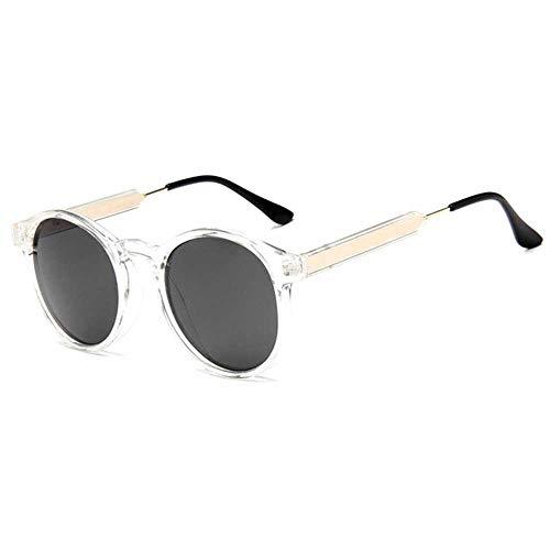 Gafas de sol redondas retro para hombres y mujeres, gafas de sol transparentes para mujeres, gafas de sol para hombres y mujeres
