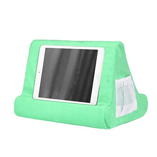 MoneRffi Laptop Holder Tablet Support Cushion Foam Lapdesk Multifunction Laptop Cooling Pad Stand Holder Cushion Compatible for Pad,eReaders,Mobile Phone