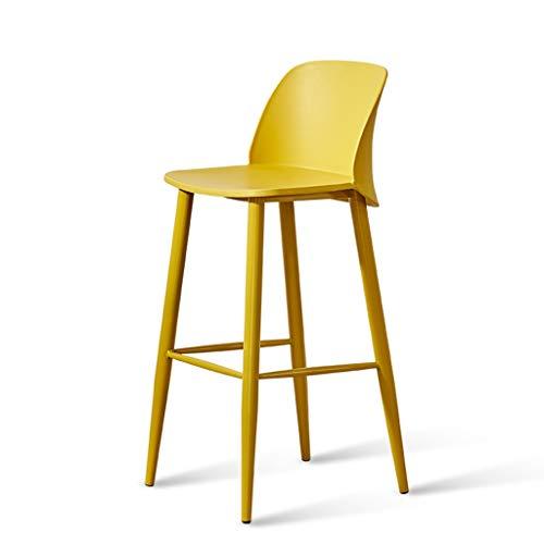 ☀ JBD Chaise de Bar créative Simple comptoir de Mode Tabouret Haut sur Pieds Style Moderne Designer Dossier Siège Café Ménage (Couleur : Pink)