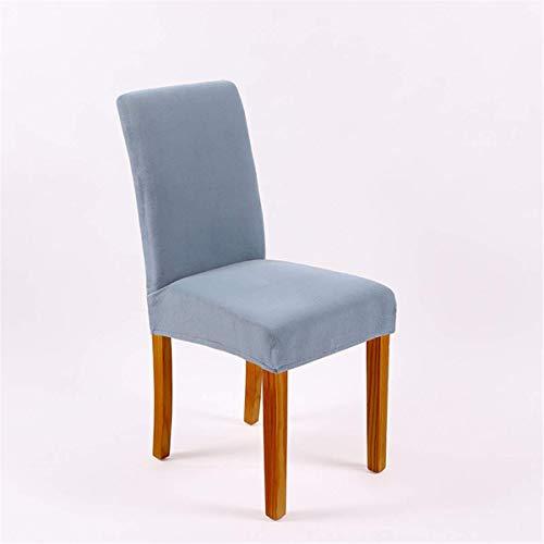 XBSXP Fundas para sillas, Fundas elásticas extraíbles y Lavables para sillas de Comedor, Fundas para sillas de Comedor con Banda elástica para Banquetes de Hotel en casa, K, 6 Piezas