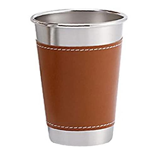 fedsjuihyg Taza de Cerveza del Acero Inoxidable de los vidrios de consumición con Las Tazas para Beber Funda de Pinta a Actividades Indoor Partido S