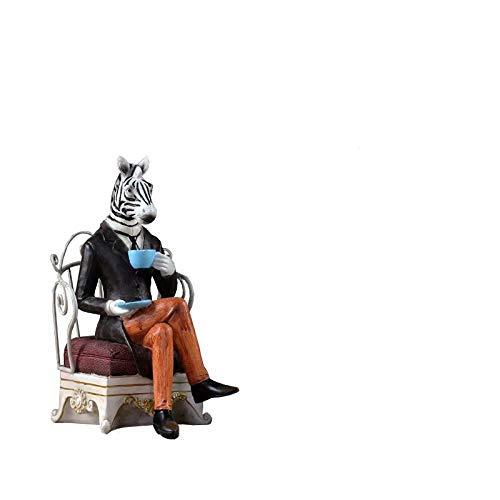 Ornamenten Verzamelobjecten Vintage Creatieve Hars Herten Standbeeld Interieur Kantoor Ambachten Studeerkamer Decoratie Objecten Zebra Boekensteun Dieren Beeldjes