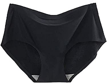 Kwango Women's Invisible Seamless Mid-Rise Panties Hipster Brief