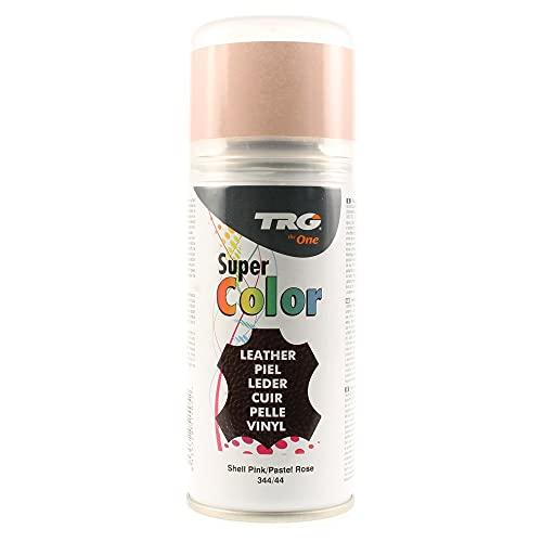 TRG the One - Tinte en Spray para calzado de Piel y Piel Sintética | Ideal para Restaurar o cambiar el color de Zapatos de Piel | Super Color #344 Rosa Pastel, 150ml
