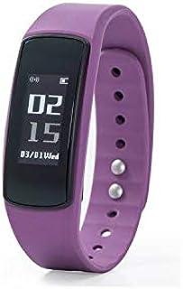 Nuband Flash - Monitor de Actividad y sueño con frecuencia cardíaca, Color Morado