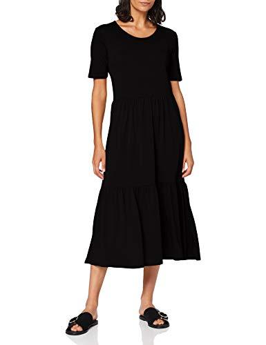 Jacqueline de Yong NOS JDYDALILA Frosty S/S Dress Jrs Noos Vestito, Nero, M Donna