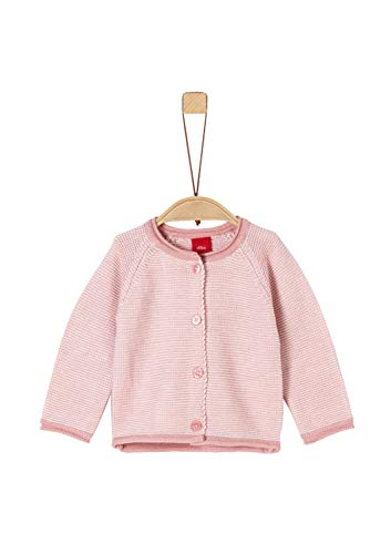 s.Oliver RED LABEL Unisex - Baby Weiche Strickjacke apricot structured stripes 50/56