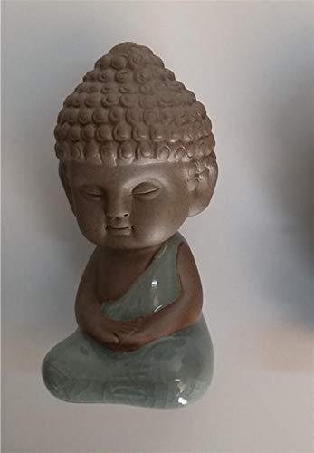 CQQO Buda Estatuas Té Decoración De Adornos For Mascotas B