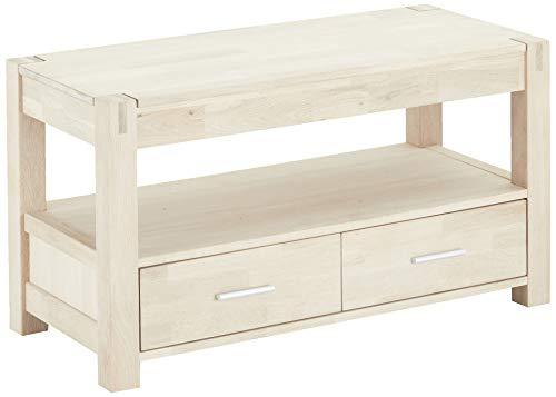 Ibbe Design Furniture houders & standaard voor tv, massief en eiken gefineerd, zeep-afwerking, L102x B45x H55 cm