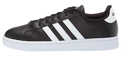 adidas mens Grand Court Tennis Shoe, Black/White, 8.5 US