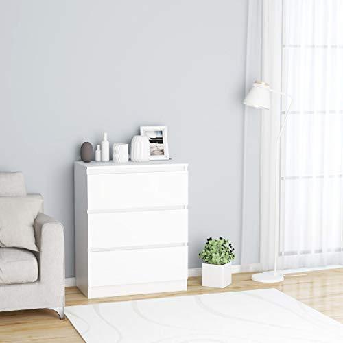 FAMIROSA Aparador de aglomerado Blanco 60x35x76 cm