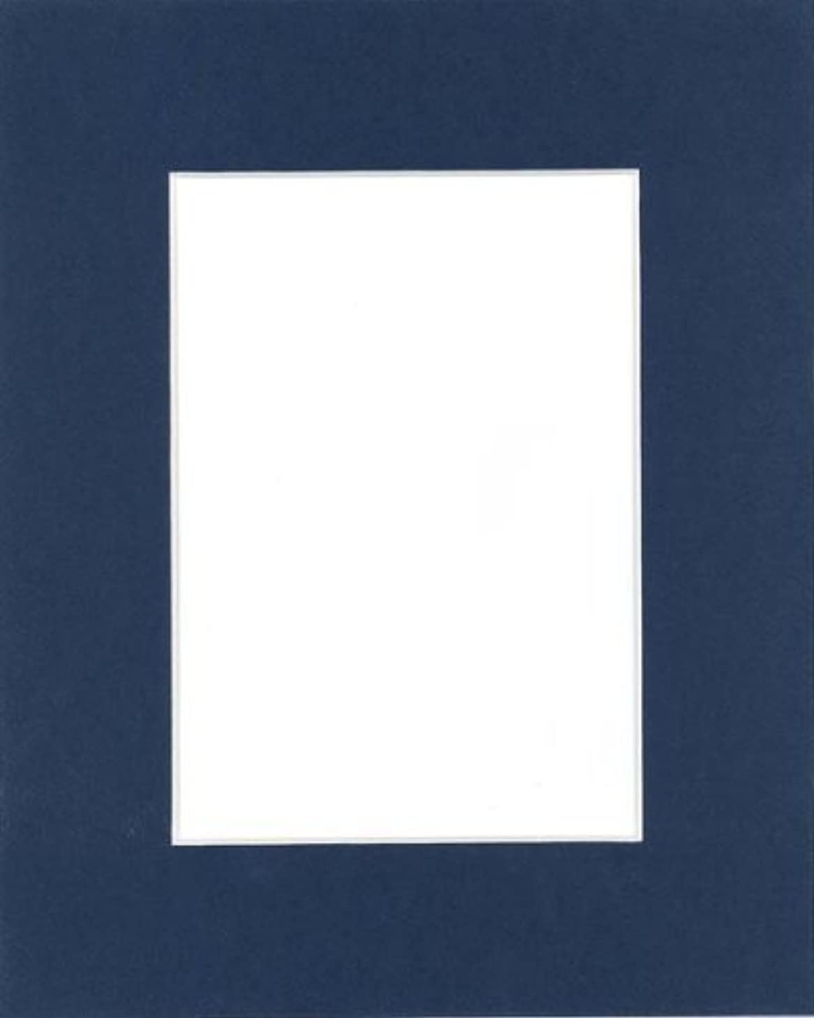 Pack of 25 11x14 Dignity Blue Picture Mats Mattes with White Core Bevel Cut for 8x10 Photo + Backing + Bags