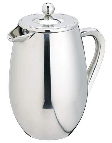 Kitchen Craft Le'Xpress Cafetière à double paroi 8 tasses Acier inoxydable 1 litre