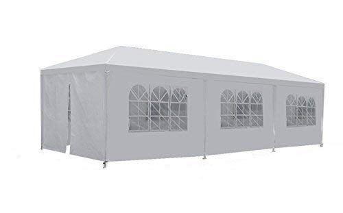 JupiterForce Outdoor Heavy Duty Tent with Removable Sidewalls Windows (10' x 30')