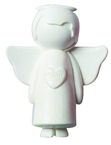 airflair AZLUF576 Engel Lufterfrischer-Clipl, weiß, Duftrichtung: Lemongras/ZitroneSchutzengel und Glücksbringer