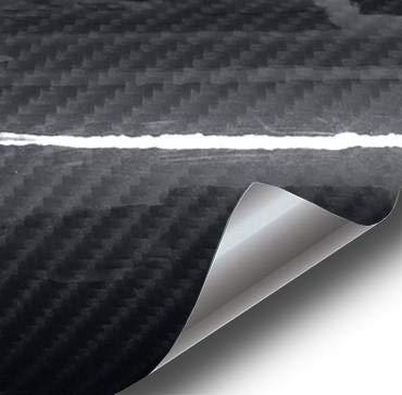 VViViD High Gloss Black Carbon Fiber Tech Art 2ft x 5ft 3 Layer 3D (not Printed) Realistic True Carbon Fiber Look Cast Vinyl Wrap for Car, Boat, Bike DIY