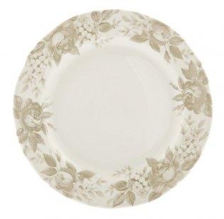 Splendor - Juego de 6 platos llanos, color beige y blanco