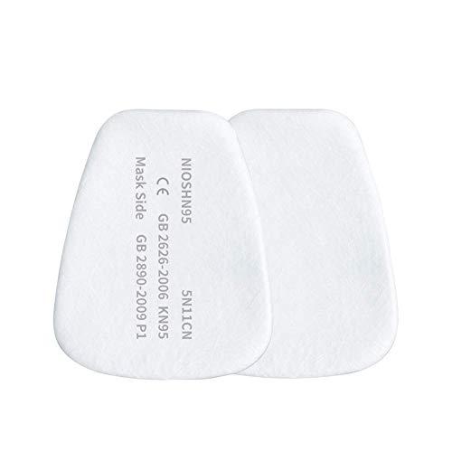 KISCHERS Filter für Atemschutzmaske Partikelfilter für Staubmaske Lackiermaske Atemschutz Halbmaske und Gasmaske Ersatzfilter Austauschfilter Einlegefilter für Voll- und Halbmasken