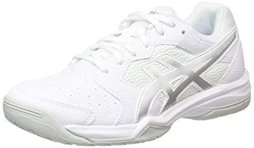 ASICS Damen Gel-Dedicate 6 Tennis Shoe, White/Silver, 37.5 EU