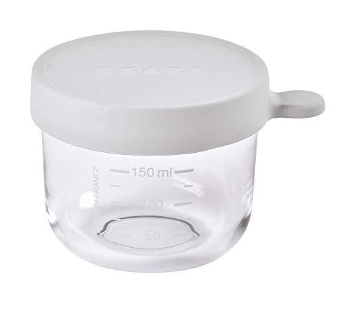 BÉABA - Opbergdoos voor babyvoeding, schaalverdeling, temperatuurbestendig, bewaardoos voor babys en peuters, 150 ml, lichte nevel.