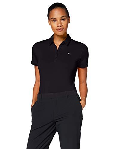 Under Armour Zinger Short Sleeve Camisa Polo, Mujer, Negro, XL