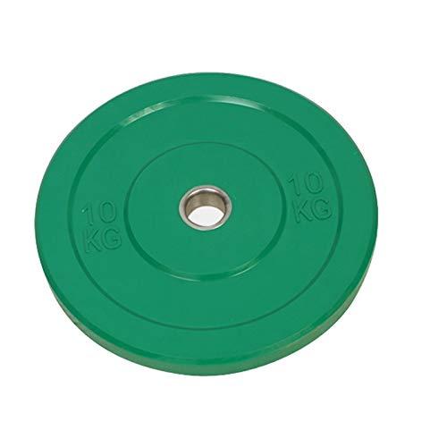 Discos para pesas Placas de pesas de parachoques de goma olímpica de Barbell, par, 5kg * 2, 10 kg * 2, 15kg * 2, todas las barras de goma Pequeña precisión contrapeso discos de pesas ( Size : 10kg*2 )
