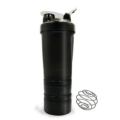Zhandou - Shaker in polvere a tre strati in acciaio inox, a 3 strati, per proteine, a prova di perdite, a prova di perdite, per sport