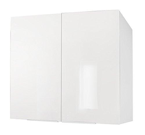 Berlenus CP8HB - Armario de cocina (2 puertas, 81 x 42 x 13 cm), color blanco