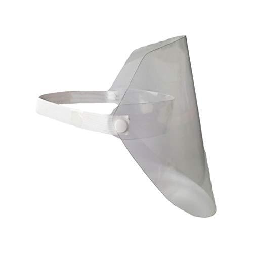 HEALLILY Gesichtsschutzschild Gesichtsschild Gesichtsschutzschirm Staubmaske Schutzhelm mit PVC Gesichtsschutz Helm für Küche Kochen Trimmer Freischneider Outdoor Arbeit