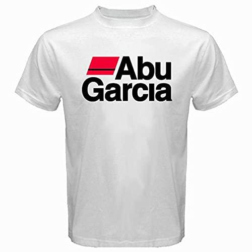 New Abu Garcia Logo Pro Fishing Men's White T-Shirt Size S M...