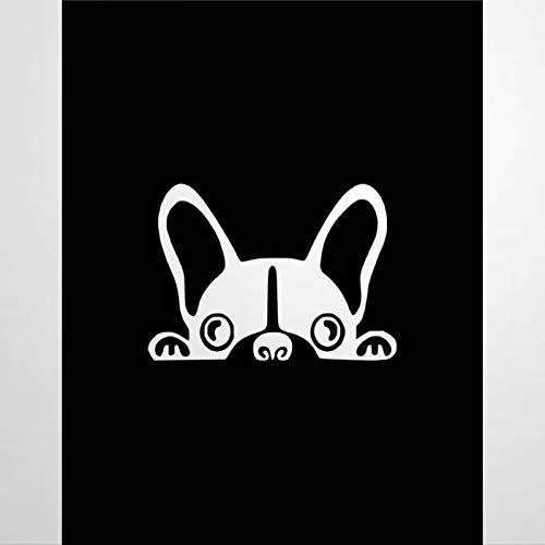 Peeking French Bulldog Funny Dog French Cars Decal Sticker ,bulldogbulldog pet Dog pet e Vinyl Auto Decals & Decal Sticker for Laptop, Computer, Cup, Bumper,Trucks, Motorcycle,Mug, Bottle.